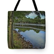 Cloud Reflection At The Pond Tote Bag