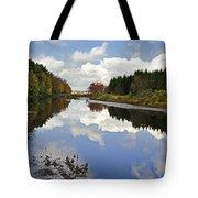 Autumn Lake Reflection Landscape Tote Bag