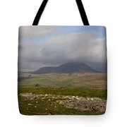 Cloud Streaming Across The Summit Of Pen-y-ghent Ribblesdale North Yorkshire England Tote Bag