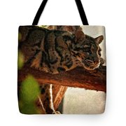 Clouded Leopard II Painted Version Tote Bag
