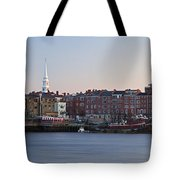 Cloudless Portsmouth Skyline Tote Bag
