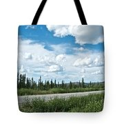 Clouds Above Taylor Highway To Chicken-ak Tote Bag