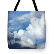 Clouds And Rainbow Tote Bag