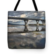 Clouds And Reflections Over Lake Champlain Tote Bag