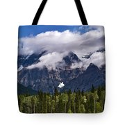 Clouds Around Mountains, Robson Tote Bag