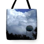 Clouds Around The Water Tower Tote Bag