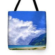 Clouds At Polihale Tote Bag