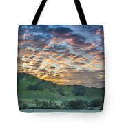 Clouds At Sunrise On A Frosty Morning Tote Bag