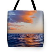 Clouds At Sunset - Racing Across The Water At Sunset Tote Bag