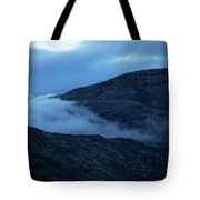 Clouds Cover The Mountains Of The Ice Tote Bag