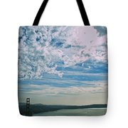 Clouds Dropping In Tote Bag