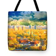 Clouds In The City Tote Bag