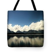 Clouds In The Grand Tetons Tote Bag