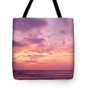 Clouds In The Sky At Sunset, Pacific Tote Bag
