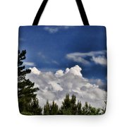 Clouds Like Mountains Behind The Pines Tote Bag