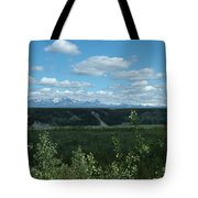 Clouds Mountains And Trees Tote Bag