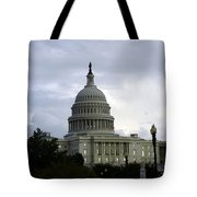 Clouds Of Political Uncertainty Over Capitol Hill Tote Bag