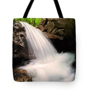 Clouds On The Creek Tote Bag