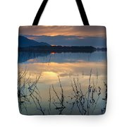 Clouds On The Pink Water Tote Bag