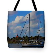 Clouds On The Water Tote Bag