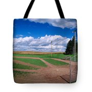Clouds Over A Baseball Field, Field Tote Bag