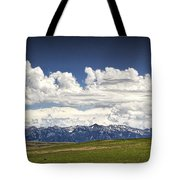 Clouds Over A Mountain Range In Montana Tote Bag