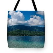 Clouds Over An Island, Hana, Maui Tote Bag