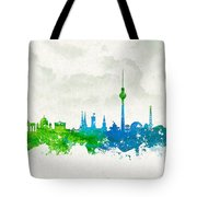 Clouds Over Berlin Germany Tote Bag by Aged Pixel
