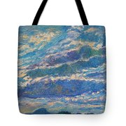 Clouds Over Buffalo Mountain Tote Bag