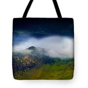 Clouds Over Bull Crag And Maiden Moor Tote Bag