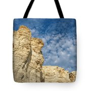 Clouds Over Chalk Pyramids Tote Bag