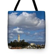 Clouds Over Coit Tower Tote Bag