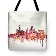 Clouds Over Houston Texas Usa Tote Bag by Aged Pixel
