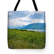 Clouds Over Jackson Lake In Grand Teton National Park-wyoming Tote Bag