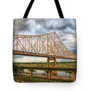 Clouds Over King Bridge Tote Bag