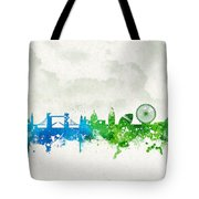 Clouds Over London England Tote Bag by Aged Pixel