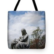 Clouds Over Mother And Twins Tote Bag