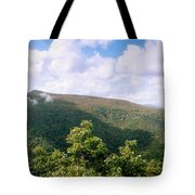 Clouds Over Mountain, Sunset Rock Tote Bag