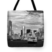 Clouds Over New York Tote Bag