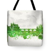 Clouds Over Prague Czech Republic Tote Bag by Aged Pixel