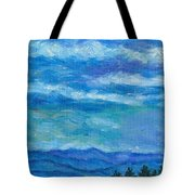 Clouds Over The Blue Ridge Tote Bag