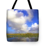 Clouds Over The Grasses Tote Bag