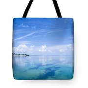 Clouds Over The Ocean, Florida Keys Tote Bag
