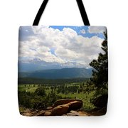Clouds Over The Rockies Tote Bag