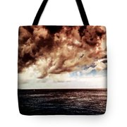 Clouds Over The Water Tote Bag