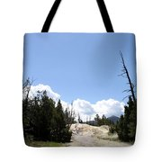 Clouds Over Thermal Area Tote Bag