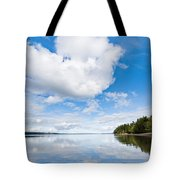 Clouds Reflected In Puget Sound Tote Bag