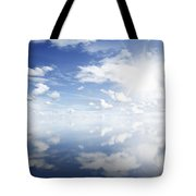 Clouds Reflected Tote Bag