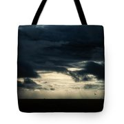 Clouds Sunlight And Seagulls Tote Bag by Hakon Soreide