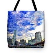 Clouds Van Gogh Tote Bag